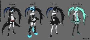Rating: Safe Score: 0 Tags: black_rock_shooter black_rock_shooter_(character) brs_beast hatsune_miku sukienka vocaloid User: DarkV