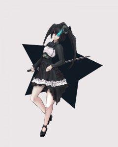Rating: Safe Score: 0 Tags: black_rock_shooter black_rock_shooter_(character) sukienka User: DarkV