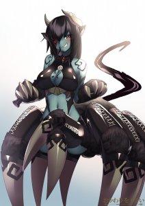 Rating: Safe Score: 0 Tags: arachne cowfee monster_girl_encyclopedia monster_musume_no_iru_nichijou ushi-oni_(monster_girl_encyclopedia) User: DarkV