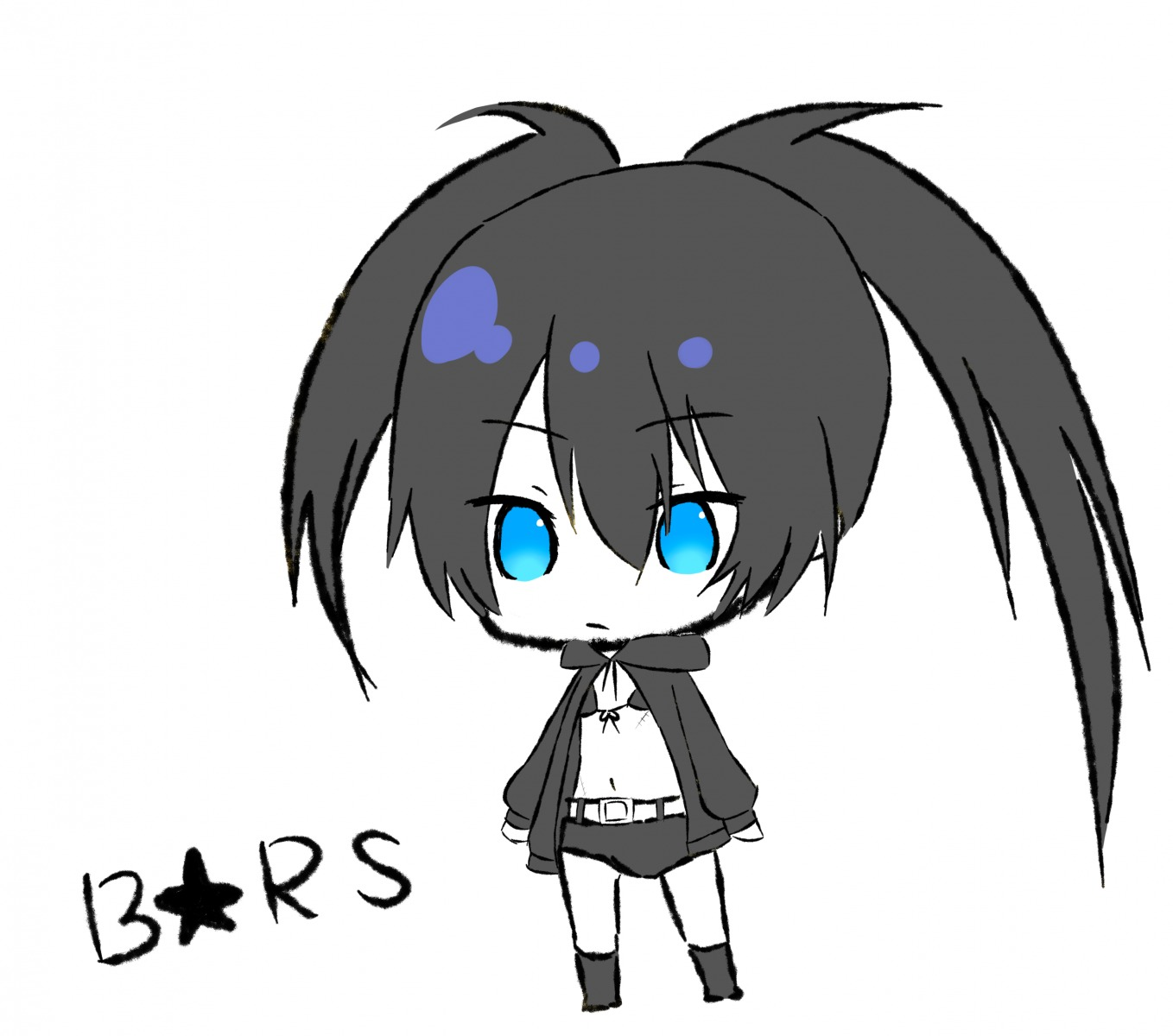 black_rock_shooter black_rock_shooter_(character) chibi