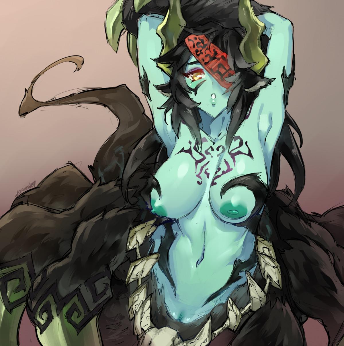 arachne monster_musume_no_iru_nichijou ushi-oni_(monster_girl_encyclopedia)